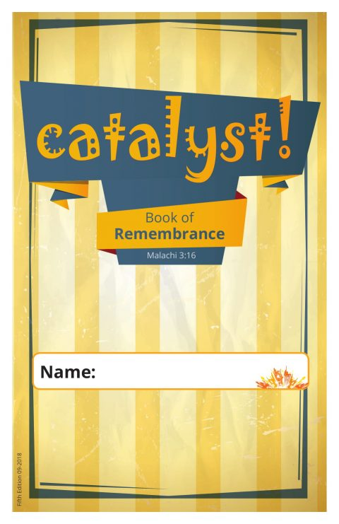 Catalyst Book of Remembrance Teen Devotional