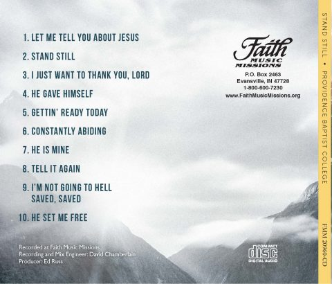 Stand Still CD Back Cover